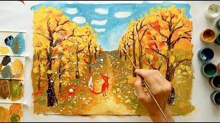 """Бесплатный урок с Гулей Кабиловой. Тема """"Осень"""""""