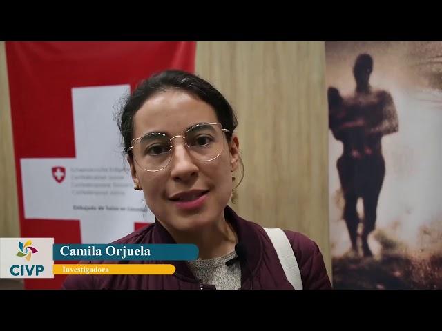 Camila Orjuela saluda a la CIVP