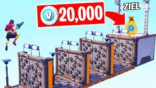 20,000 V-Bucks when you get to the finish line! (Fortnite Deathrun Challenge)
