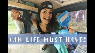 6 VAN LIFE MUST HAVES | Items I can't live without!