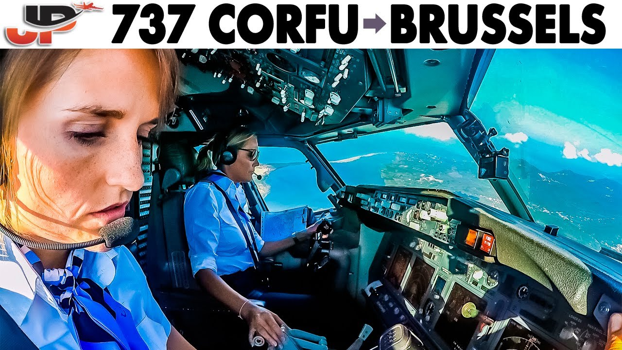 Piloting BOEING 737 Corfu to Brussels | Cockpit Views