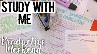 WEEKEND STUDY WITH ME - A Levels (how I stay productive over the weekend)