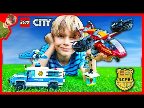 Lego City Sky Police Diamond Heist!