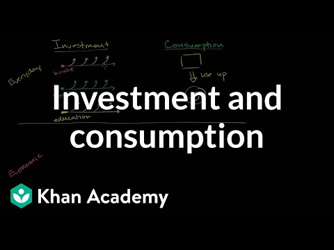 Investment and consumption   GDP: Measuring national income   Macroeconomics   Khan Academy