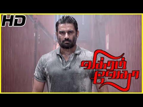 Vikram Vedha Movie Scenes | Madhavan chases Vijay Sethupathi | Madhavan fights with Vijay sethupathi