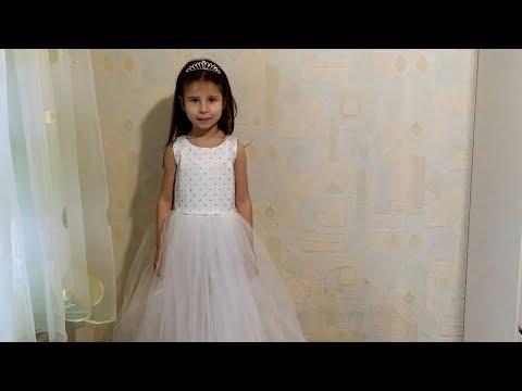 Нарядное пышное платье для девочки своими руками