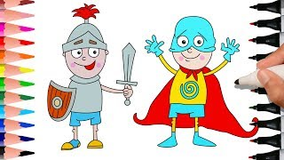 Baby Plays The Armored Knight With His Sword And Shield, Baby Plays The Superhero Hero