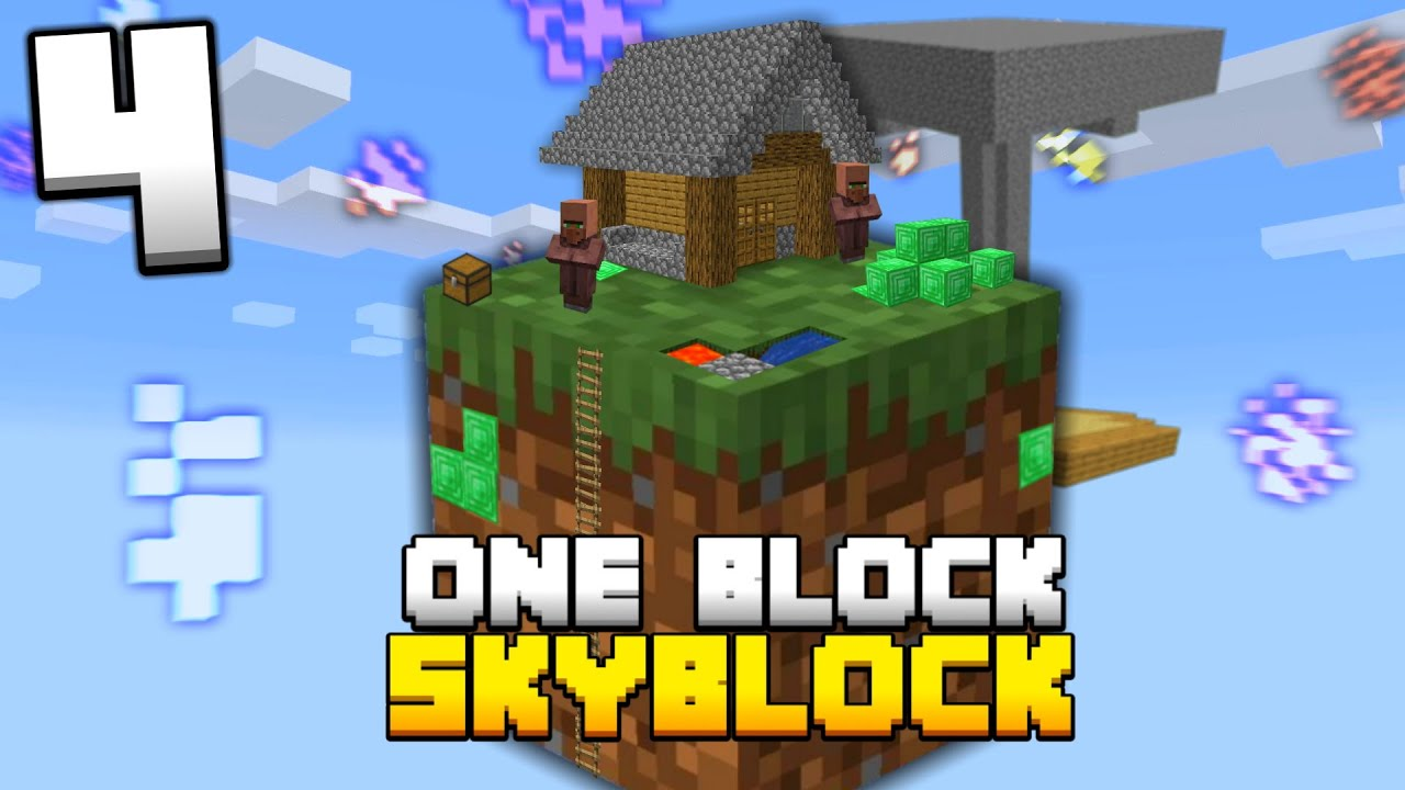 Minecraft Skyblock But You Only Get ONE BLOCK (#4) YouTube