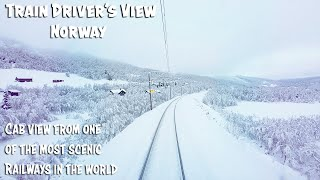 Winter Cab View from the Bergen Line and famous Flåm Railway