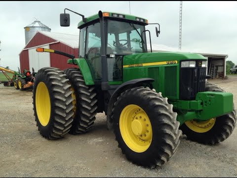 John Deere 7810 Tractor Sold For 90 000 On Ohio Farm
