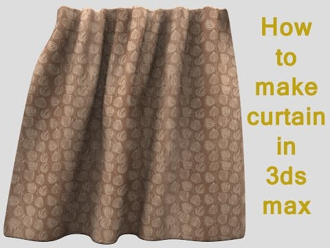 3ds max modeling tutorial : How to model a curtain in 3ds max
