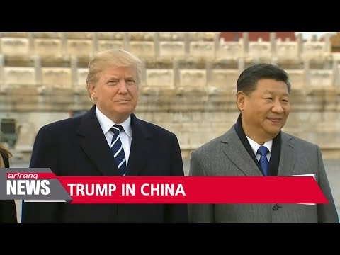 Trump given red carpet treatment in China