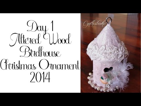 Day 1 of 10 Days of Christmas Ornaments with Cynthialoowho 2014!