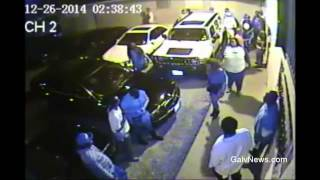Texas City Police Shooting - Raw Security Video