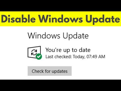windows 10 auto update permanently disable