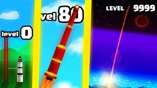 IS THIS THE FASTEST HIGHEST LEVEL ROCKET EVOLUTION? (9999+ SPACE LEVEL) l Space Frontier