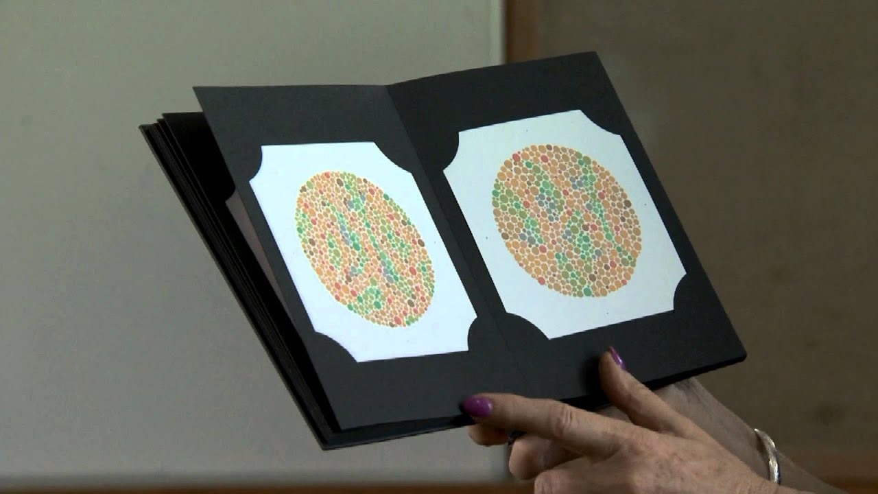 Demonstrating colour vision screening pass