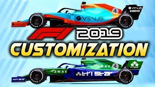 F1 2019 Game   CUSTOMIZATION! First Look at Custom Liveries in the F1 2019 Game