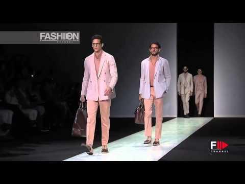GIORGIO ARMANI Spring Summer 2014 Menswear Collection Milan by Fashion Channel HD