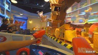 [4K] Looney Tunes Interactive Ride - Warner Bros World Theme Park - Ani-Mayhem Ride