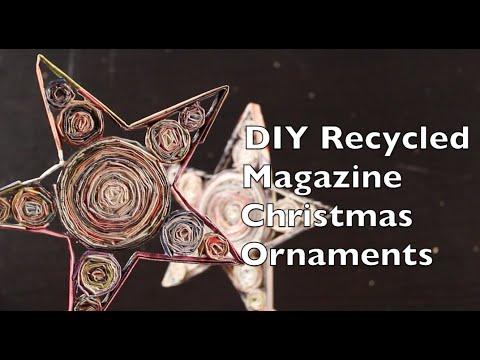 DIY Recycled Magazine Christmas Ornaments | Craft Idea Tutorial Using Magazines