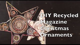 Diy Recycled Magazine Christmas Ornaments | Craft Idea Tutorial Using Magazines