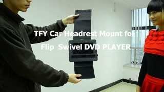 TFY Car Headrest Mount for Flip & Swivel DVD Player
