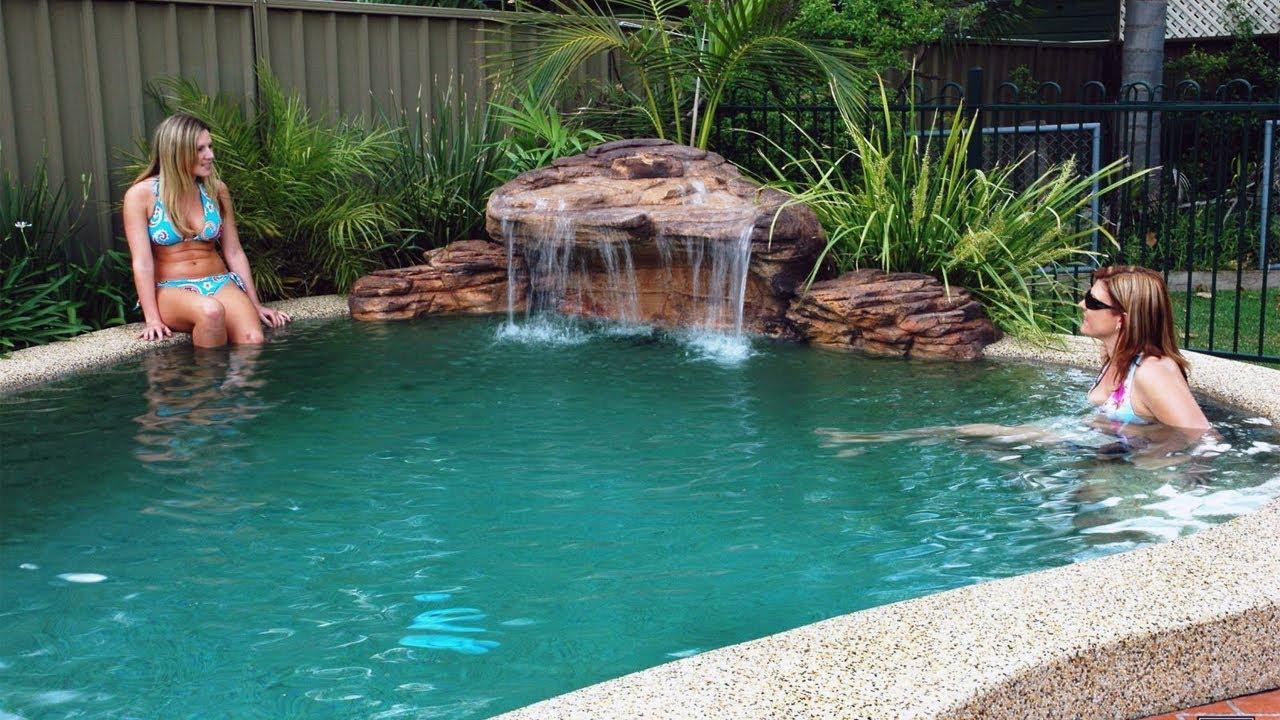 Pool Water Features Custom Waterfalls Youtube
