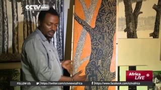 CCTV :Ethiopian Graphic Artist Paints Trees To Express Views On Social Issues