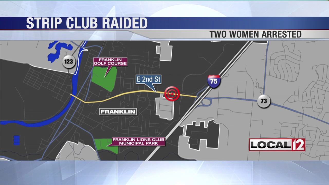 Gps map of strip clubs