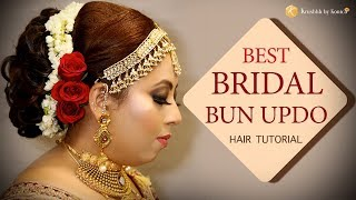 Bun Hairstyle Tutorial Step By Step Indian Bridal