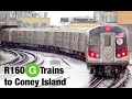 ⁴ᴷ R160 G Trains To Coney Island Action