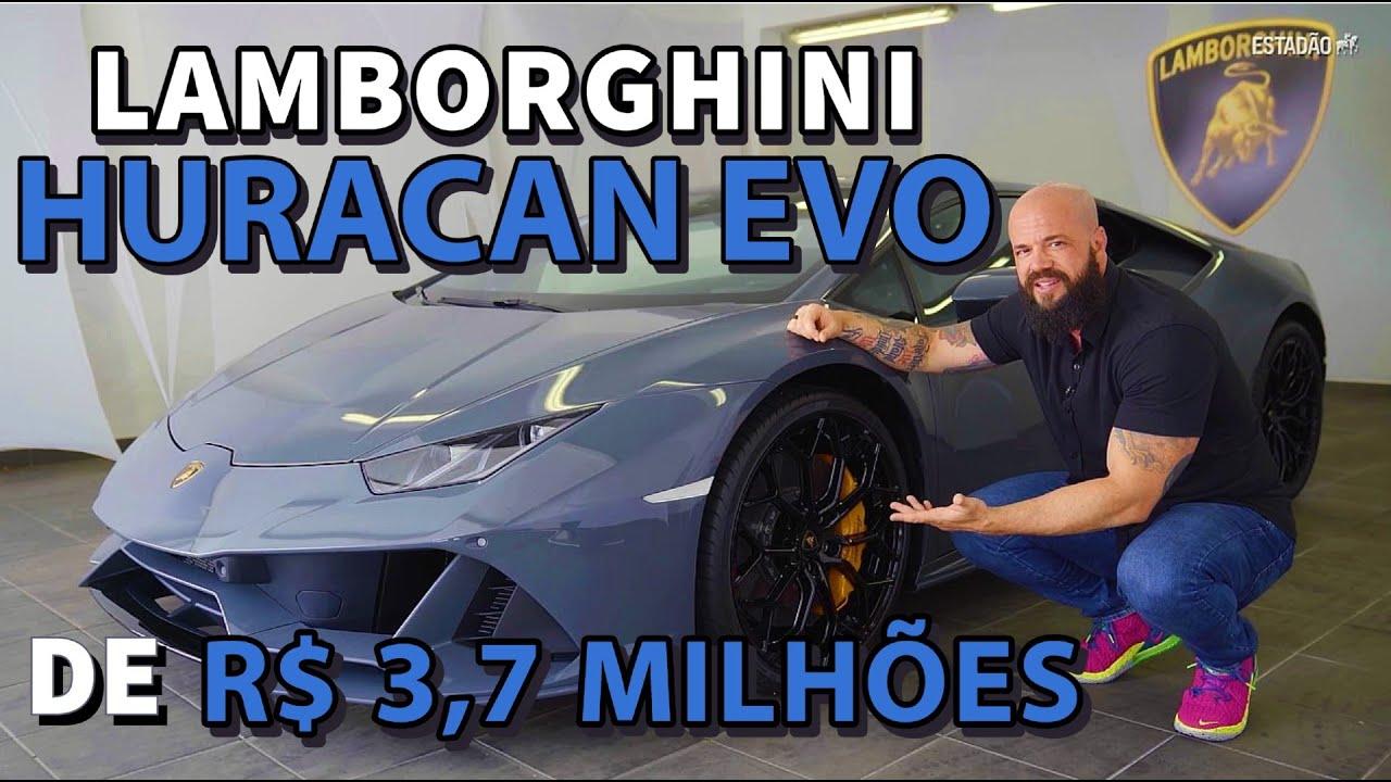 Demos uma volta no Lamborghini Huracan Evo de R$ 3,7 milhões