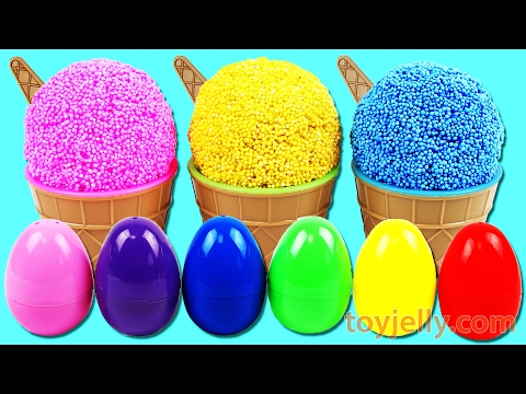 Thumbnail: Play Foam Ice Cream Cup Surprise Egg Toys Learn Colors Play Doh Clay Super Hero Cans Mickey Mouse