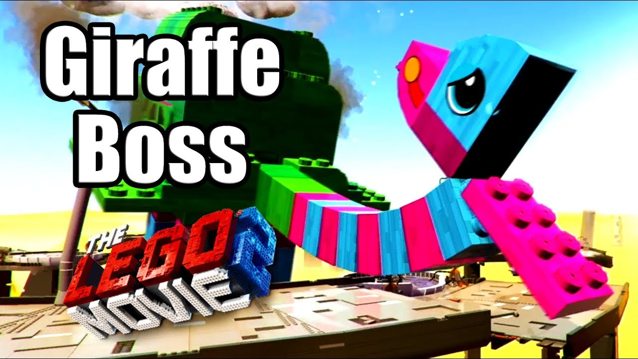 The Lego Movie 2 Videogame 2019 Giraffe Boss Fight Youtube