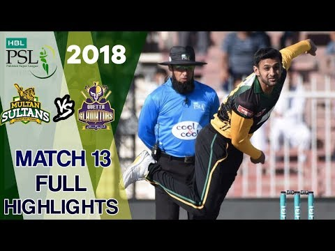 Full Highlights   Multan Sultan vs Quetta Gladiators    Match 13   3rd March   HBL PSL 2018 thumbnail