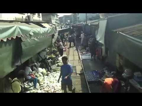 Thailand - Maeklong Train Market: The Passenger's View