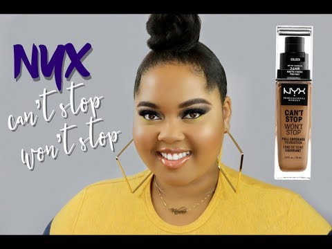 NYX Cant Stop Wont Stop Foundation Review & Wear Test