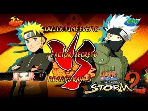 Naruto Ultimate Ninja Storm 2 1080p Boss 1 Kakashi Rank S | Naruto Sakura vs Kakashi Factor Secreto