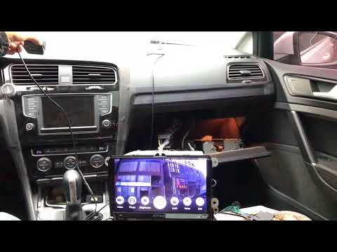 9 Inch In Dash Android Multimedia System VW Canbus Testing In  Golf 7