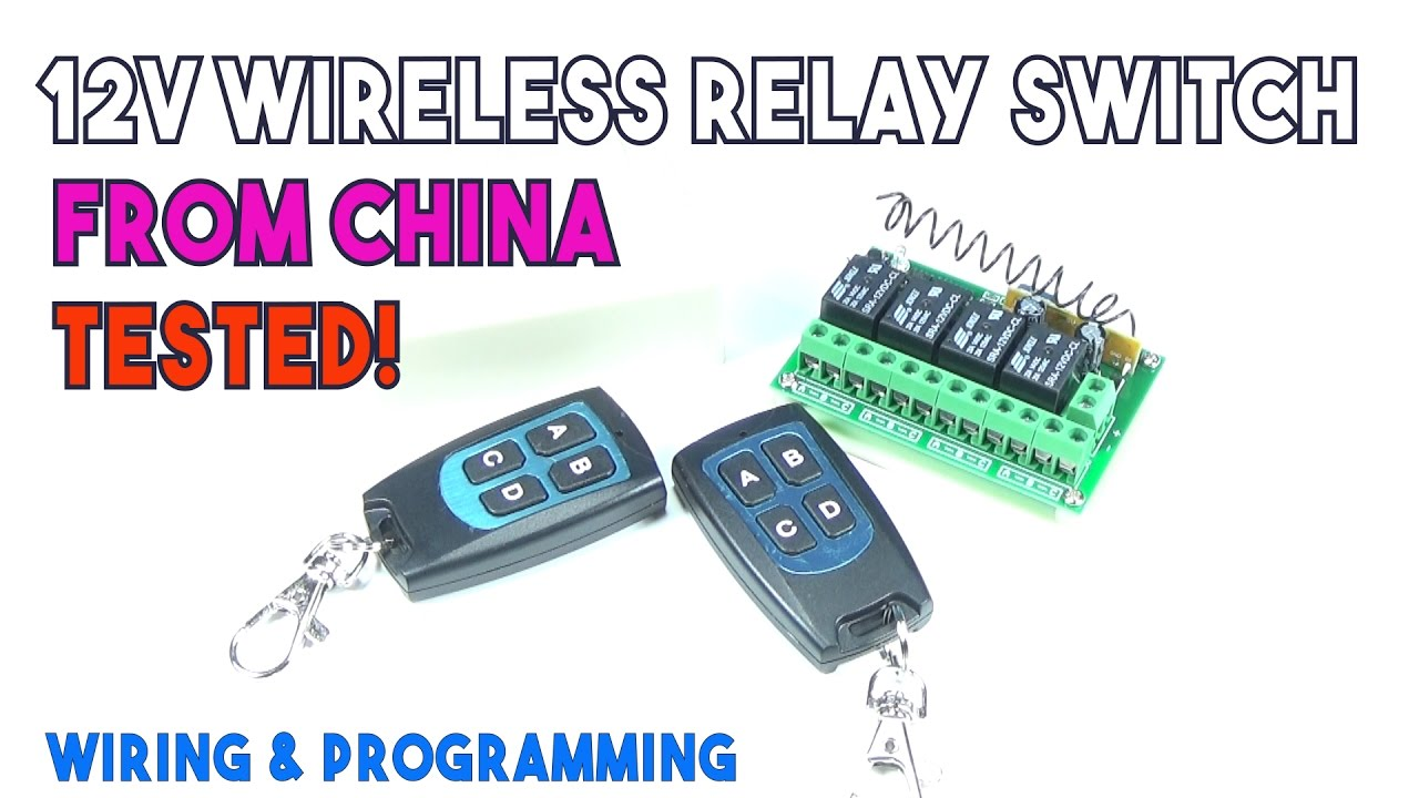 12v 4ch Channel 315mhz Wireless Remote Control Switch Testwiring Relay Wiring