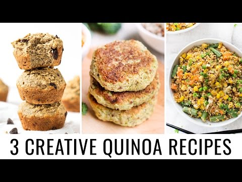 CREATIVE QUINOA RECIPES | 3 healthy & fun recipes