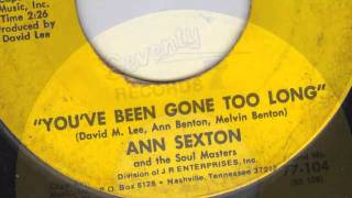 YOU'VE BEEN GONE TOO LONG - ANN SEXTON.