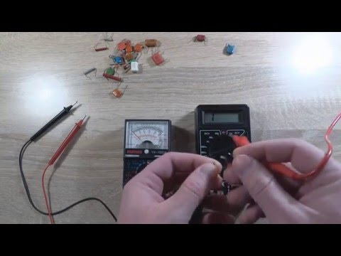 Как проверить неполярный конденсатор мультиметром