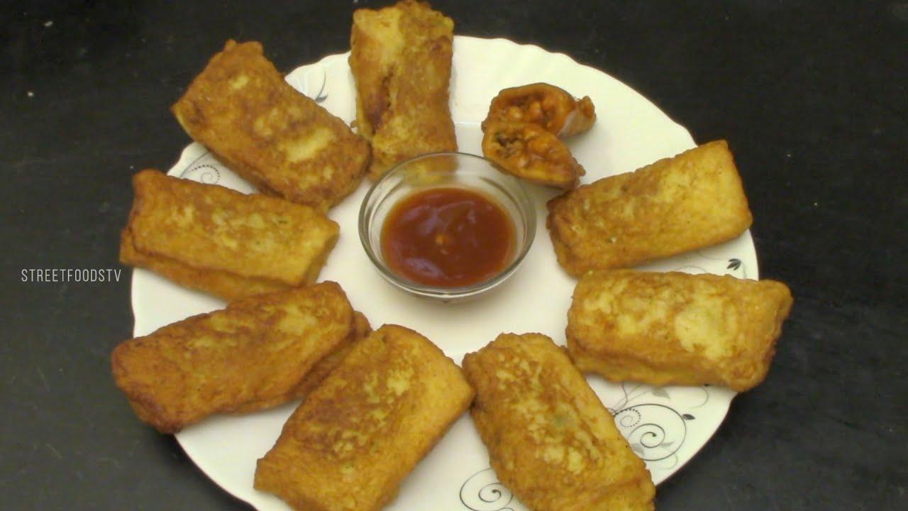 Chicken Pockets Recipe   Street Food