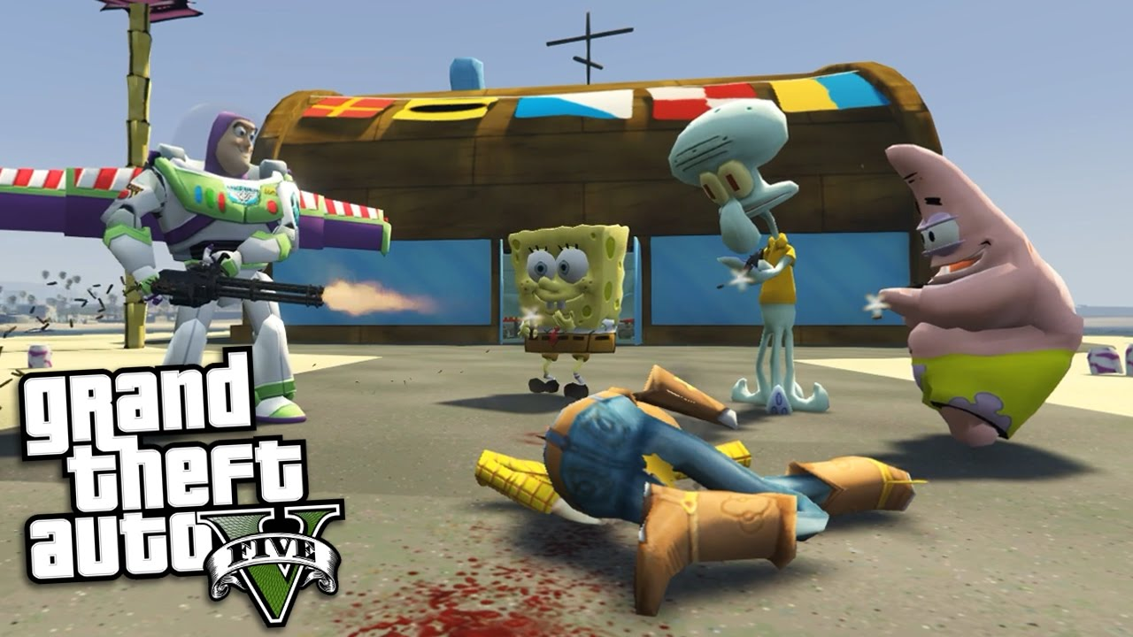 Gta  Mods Spongebob Vs Toy Story Mod Gta  Mods Gameplay