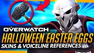 Overwatch | HALLOWEEN TERROR 2017 EASTER EGGS (Skins and Voicelines)