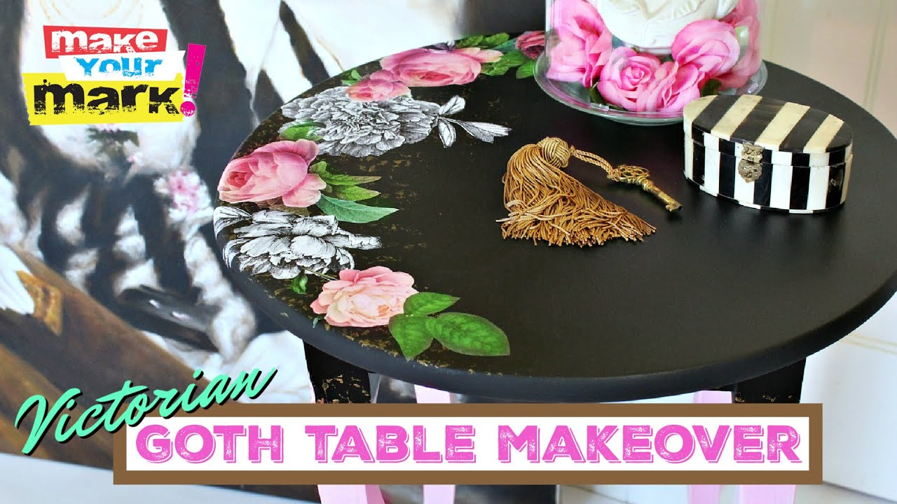 Victorian Gothic Table Makeover Youtube