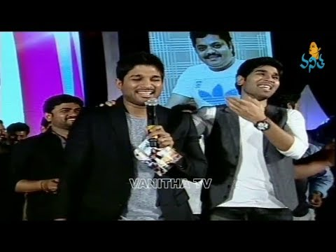 Bunny Funny Speech about Allu Sirish