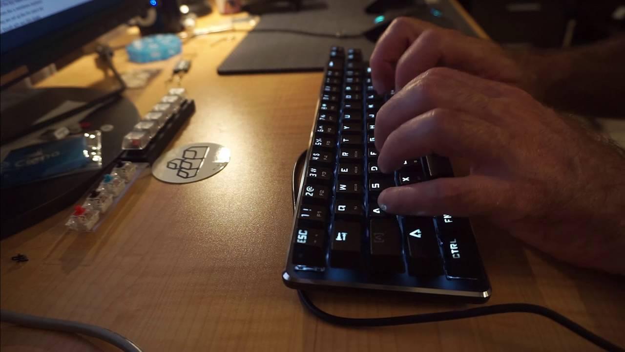 Magicforce 68 Keys Mini Mechanical Gaming Keyboard Brown Switch Silver White
